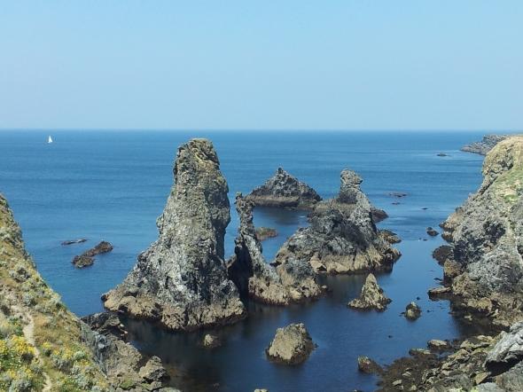 """de """"aiguilles"""" van Monet aan de westkust van Belle Ile"""