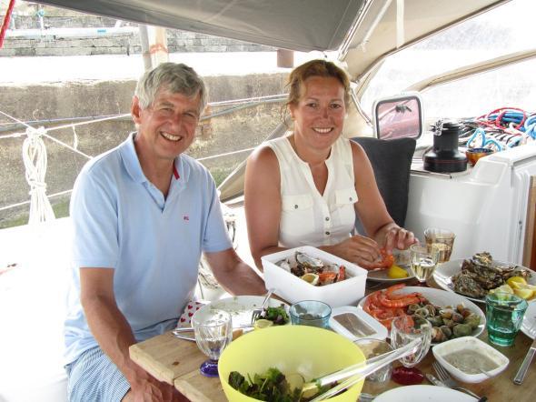 Fruits de mer in Royan; Marjan en Tara waren er heus ook, hoor...