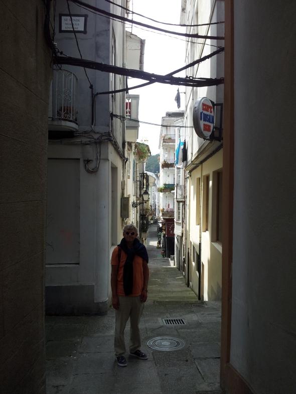 straatje in het oude centrum van Viveiro