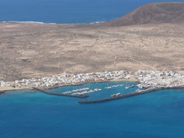 Isla Graciosa zoals we het zagen vanaf Lanzarote