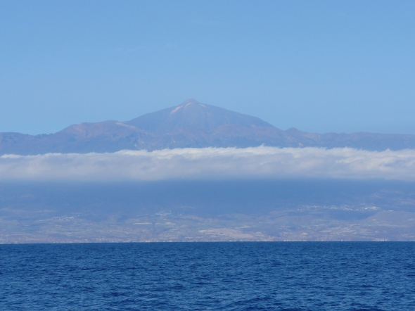 Tenerife van zee gezien
