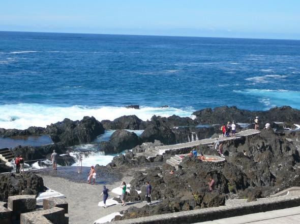 Guarachico natuurzwembad in de rotsen