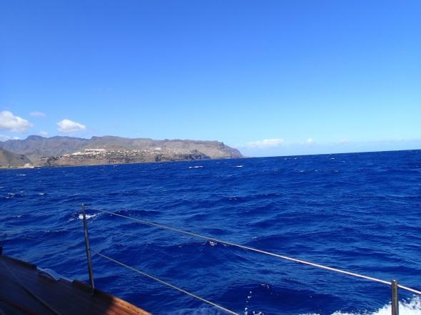 San Sebastian de la Gomera vanaf zee