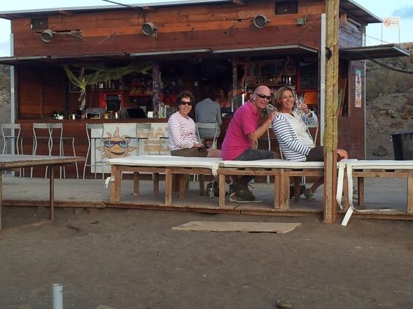 mojitos op het strand van Las Galletas