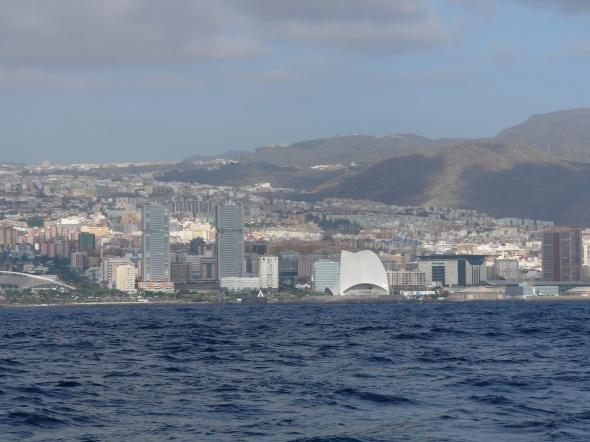 Santa Cruz van zee gezien