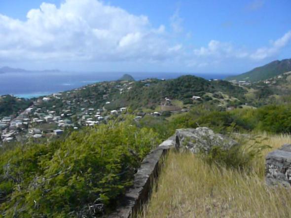 uitzicht vanaf het Fort op Union Island