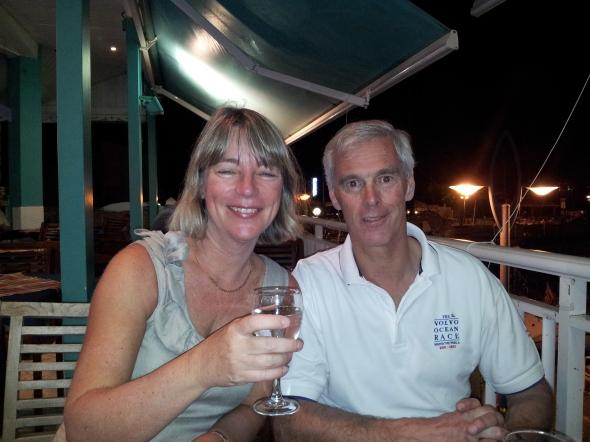 Pieter en Brigitte zeilen 2 weken mee
