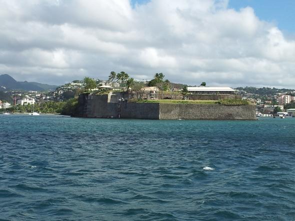 Fort de France, hoofdstad van Martinique, vanaf e zee