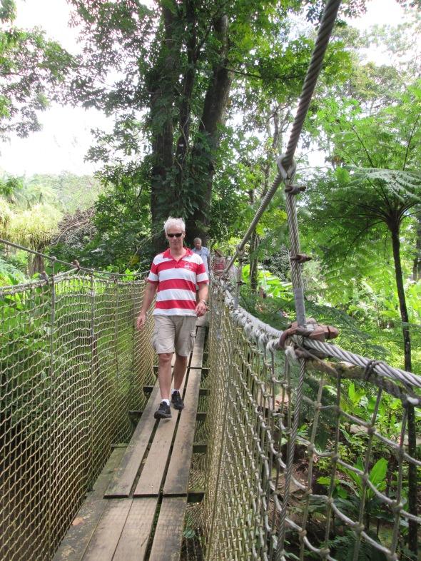 avontuurlijke wandeling door de tuin van Balata
