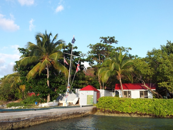 Marina Cay dinghy dock