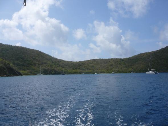 vertrek uit Benures Bay