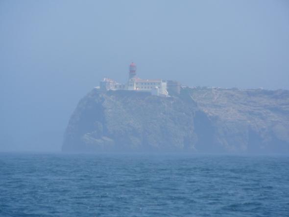 Belangrijk waypoint: Cabo Sao Vincente, de meest zuidwestelijke punt van het Europese vasteland
