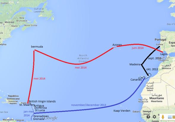 het Atlantisch rondje van Aurora (2013-2014)