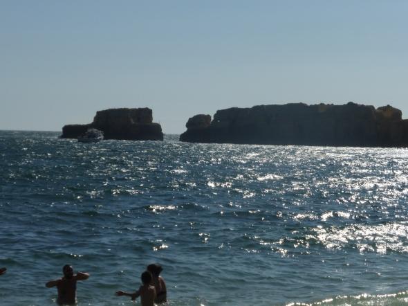 zeezicht vanaf het strandje bij Hapimag