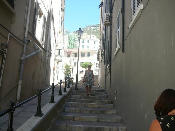 ook oude staartjes en huizen in Gibraltar