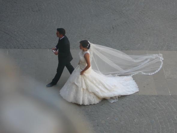 bruid in het kasteel van Karel V