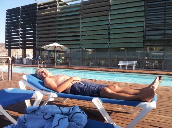 het volgende zwembad, in Cartagena