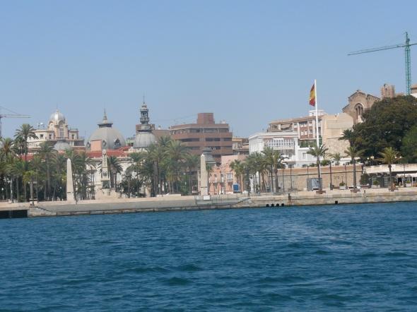 Cartagena van zee gezien