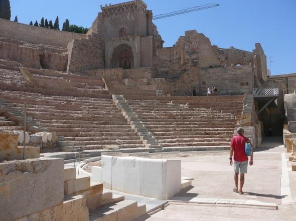 Onderaan het amphitheater
