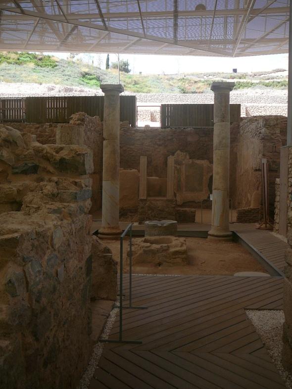 In de opgravingen van de Romeinse baden en banketzalen