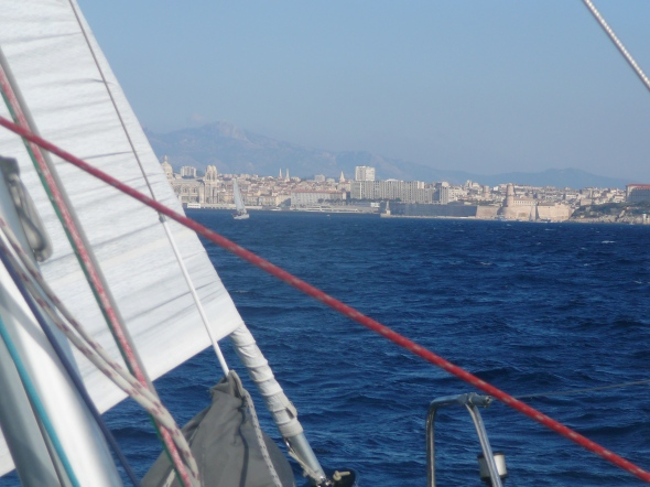 Marseilles in zicht