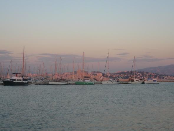 uitzicht op Marseille vanaf Iles Frioul