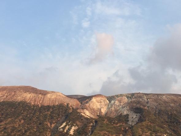Het actieve deel van de vulkaan op Vulcano