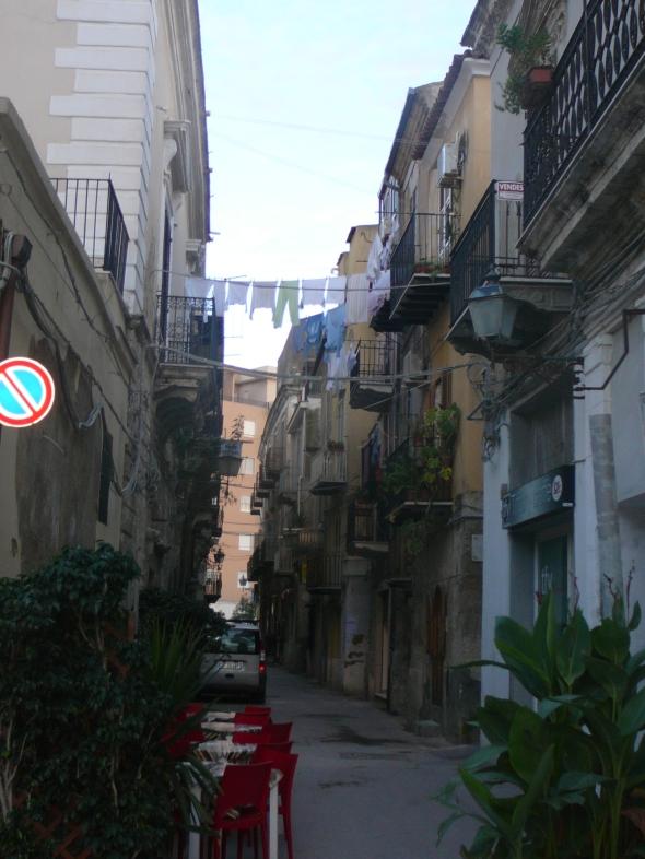 straatje in het centrum van Licata