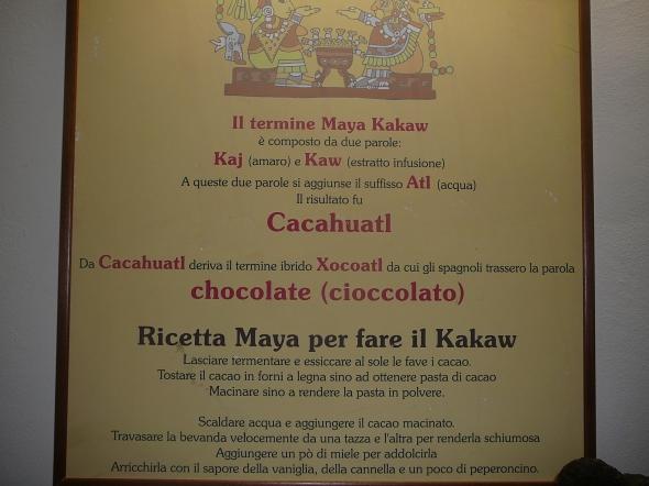 """daar komt het woord """"chocolade"""" dus vandaan"""