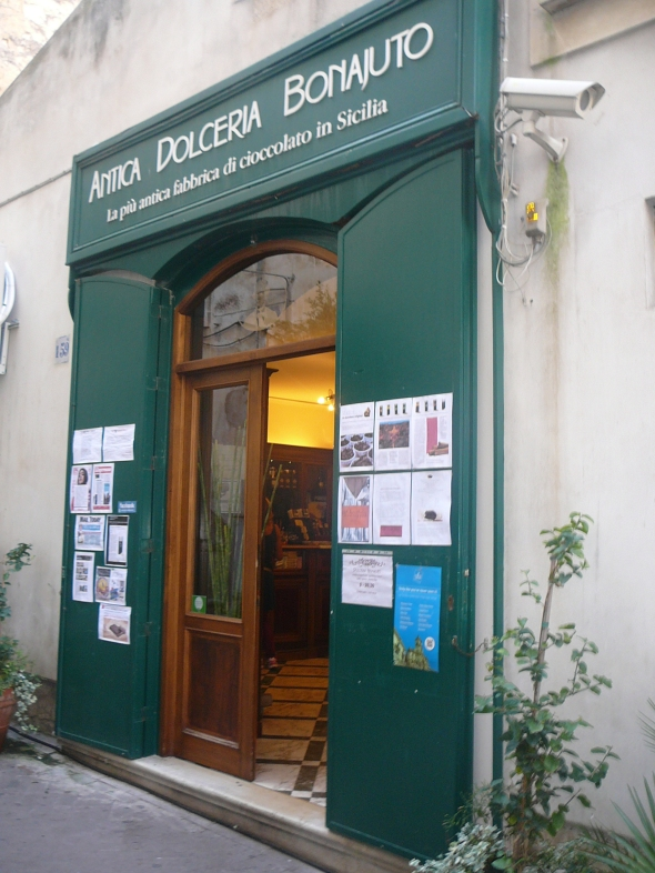 oude chocolaterie in Modica
