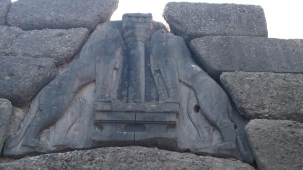 de Leeuwenpoort bij Mycene
