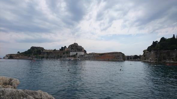 vertrek van Corfu stad